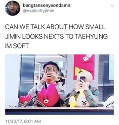 And it's funnier since Jungkook is bigger than Taehyung