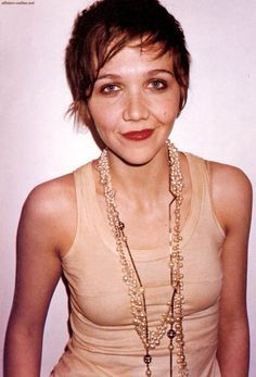 maggie gyllenhaal nylon 2004 - Google Search Up Styles, Short Hair Styles, Maggie Gyllenhaal, Dita Von, Androgyny, Wigs, Hair Cuts, Actresses, Celebrities