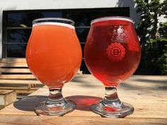 Culmination Brewing Sun Rey Raspberry Lime Twist Tea Radler and Ruse Brewing Patchwork Strawberry Basil Tart