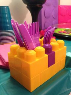 Birthday Party Ideas Photo 4 of 11 Catch My Party Lego Friends Birthday, Lego Friends Party, 6th Birthday Parties, Birthday Party Decorations, Diy Lego Birthday Party Ideas, Ideas Party, Lego Movie Birthday, Card Birthday, Birthday Quotes