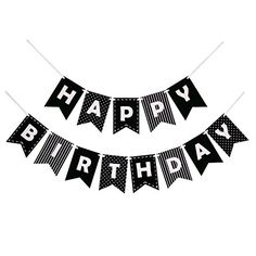 Happy Birthday Banner Bunting Laser Cut Felt 60 inches wide - Black and White ** Click image for more details. (This is an affiliate link) 2nd Birthday Boys, Birthday Themes For Boys, Birthday Letters, Tea Party Birthday, Happy Birthday Banners, Birthday Ideas, Birthday Cards, 90th Birthday Decorations, Red Party Decorations
