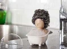 Soap Opera Dish Scrubber Holder