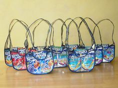 Purse made from Juice Pouches - haven't seen this style before.