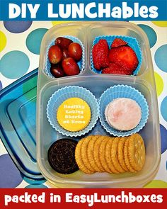 DIY Lunchables your kids will love them.  Making this fun snack at home saves you ca$h and the reusable containers from @EasyLunchboxes  are ecofriendly.