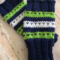 Sea-hawks! The perfect accessory for your Blue Fridays and Seahawks games. Soft and cozy, these fingerless gloves will keep your hands warm. $20.00