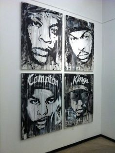 NWA | Perfect for a music room.
