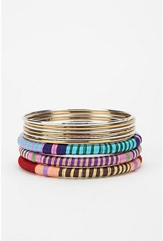 These colorful bangles were 24 but now are $9 :) The Station <3's Urban Outfitters