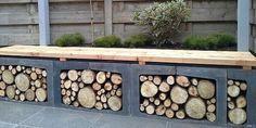 Creative DIY Outdoor Firewood Rack Ideas for Stora Outdoor Firewood Rack, Firewood Storage, Outside Living, Outdoor Living, Barbacoa Jardin, Pergola Patio, Backyard, Garden Projects, Garden Inspiration