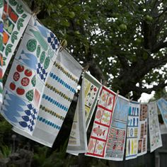Vintage tea towels from New House Textiles - housetohome.co.uk
