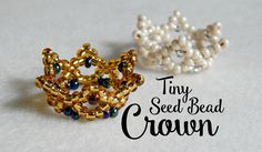 DIY Tiny Seed Bead Crown ¦ The Corner of Craft