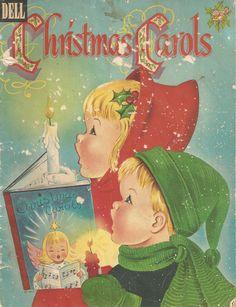 Vintage Dell Christmas Carols book.