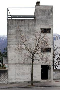 """redhousecanada: """" Luigi Snozzi. """" Casa Kalman, Brione sopra Minusio, Switzerland, 1975-76. Picture by Sander Lückers  on Flickr."""