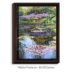DiaNocheDesigns 'Giverny Reflections' by David Lloyd Glover Painting Print on Wrapped Framed Canvas