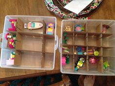 Christmas Ornament boxes for Lego storage