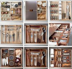 How to organize a kitchen via Poggenpohl.