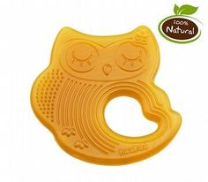 The Haakaa Natural Rubber Teether - Sleeping Owl is allergen free & free of joints. Chemical free, easy to hold;