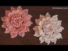 CROCHET  flower How to crochet flower Tutorial