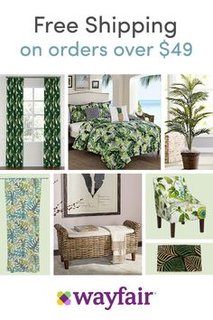 Sign up for access to exclusive sales, personalized picks, and more! Mother nature knows best. Style your space with botanical prints for a naturally on-trend home. Palm leaf prints and no-maintenance topiaries make any room feel fresh. Enjoy up to 70% OFF retail prices and FREE shipping on orders over $49!