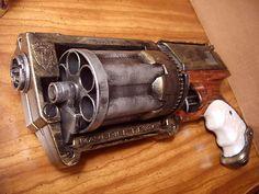 Steampunk Gun Nerf Maverick N-Strike Victorian Gothic Cosplay Painted