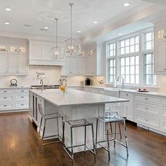 We love a classic white kitchen! Photographed by @seelife