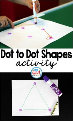 Dot to Dot Shapes is a fun hands-on activity that your students or children will very much enjoy. Name Activities, Hands On Activities, Educational Activities, Preschool Activities, Nursery Activities, Preschool Colors, Kindergarten Teachers, Preschool Learning, Toddler Learning