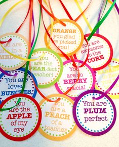 Teacher Appreciation Gift Idea + FREE Printable Tags for Fruit Baskets!                                                                                                                                                      More