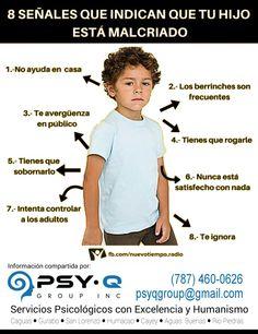 ¿Tú hijo/a está malcriado/a? ● Psy-Q Group, Inc.- Servicios Psicológicos con Excelencia y Hunanismo ● (787) 460-0626 ● www.psy-qgroup.com