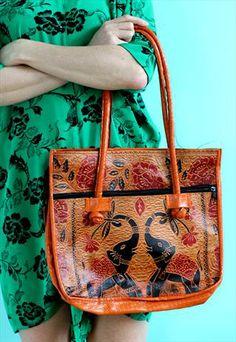 Vintage Leather Embossed Elephant Tote Bag @ASOS Marketplace  £9.99