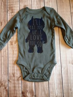 Wild Things Baby Bodysuit by LittleBunnySueSue on Etsy