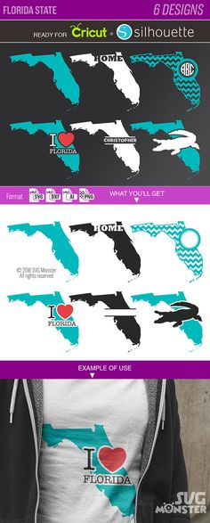 Florida State SVG Collection Clipart SVG files for