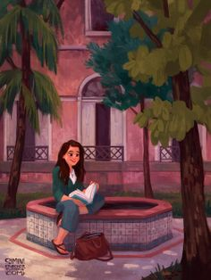Portrait commission of Luiza at her university in Brazil. So lovely to paint!