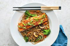 This healthy and umami-packed Miso Glazed Salmon With Sesame Soba Noodles makes for a perfect nourishing lunch or wholesome dinner.