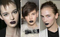 Fall/ Winter 2013-2014 Makeup Trends - Black Lips  #makeup #beauty #makeuptrends #fall2013makeup