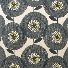 Fabric by the metre  Flower Field in Penny Black door skinnylaminx, $65.00