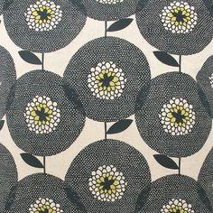 Fabric by the metre  Flower Field in Penny Black by skinnylaminx, $65.00