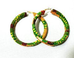 Ankara Earrings Kente Earrings African Jewelry Tribal
