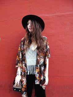 Rachel from Le Style Child in the Desert Rose Fringe Jacket