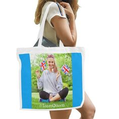 Large Bags, Blue Backgrounds, Canvas Tote Bags, Casual Outfits, Parenting, American, Model, Casual Clothes