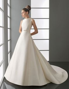 Best inspirations for Modern high neck natural waist satin wedding dress, posted on January 2014 in Wedding Dresses Cute Wedding Dress, Fall Wedding Dresses, Colored Wedding Dresses, Wedding Dress Styles, Wedding Attire, Wedding Events, Wedding Gowns, Dream Wedding, Beautiful Gowns