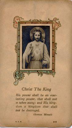 Christ the King via denise izzo Catholic Prayers, Catholic Art, Roman Catholic, Religious Art, Catholic Beliefs, Catholic Quotes, Religious Icons, Religious Pictures, Jesus Pictures