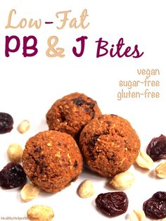 Low-Fat PB & J Bites from Healthy Helper Blog...all the classic pb & j taste you love in a perfect snackable bite! Vegan, gluten-free, and no added sugar. Full of healthy plant-based protein and bursting with secret veggie nutrients! [low-fat, clean eating, recipe, snacks, healthy, healthy snacks, healthy food, healthy recipe, peanut butter, fruit, kid friendly, vegan, vegetarian, dairy-free, sugar-free]