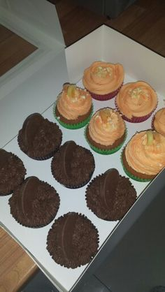 Choc orange & lemon cupcakes x