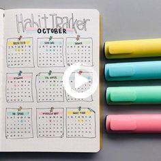 bullet journal habit tracker ideas Bullet Journal Tracker, April Bullet Journal, Creating A Bullet Journal, Bullet Journal Notebook, Bullet Journal Aesthetic, Bullet Journal Inspo, Bullet Journal Spread, Bujo, Doodles