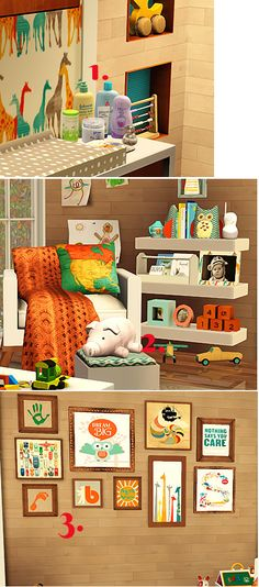 sims 3 nursery ideas http://prettylittlecc.tumblr.com/tagged/objects