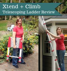 We need this!  Love the portability!  Xtend + Climb Telescoping Ladder Review | Pretty Handy Girl
