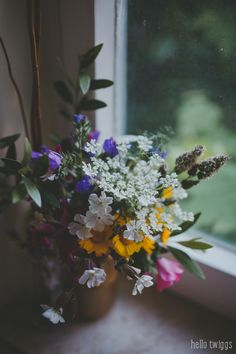 Flower Arrangement, Simple Things, Wild Flowers, By The Window, Photo by Hello Twiggs