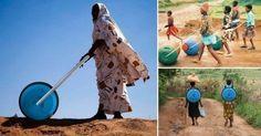 Una rueda transportadora de agua está cambiando la vida de muchos africanos que antes dedicaban el 25% de su tiempo a conseguir agua potable.