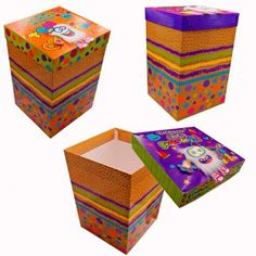 Cajas de Regalo Decorative Boxes, Packaging, Home Decor, Molde, Bag Packaging, Gift Boxes Wholesale, Breakfast Tray, Small Boxes, Bright Colours