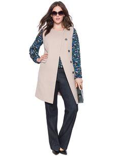 Studio Sleeveless Coat | Women's Plus Size Jackets | ELOQUII