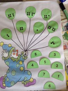 Zoek de juiste helft van de ballonnen
